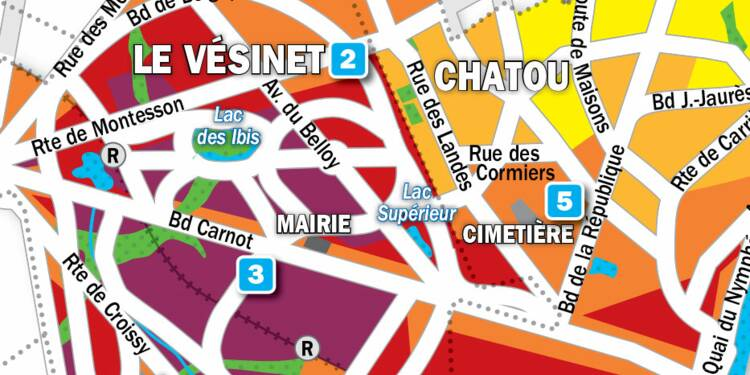 Immobilier au Vésinet et à Chatou : la carte des prix 2019