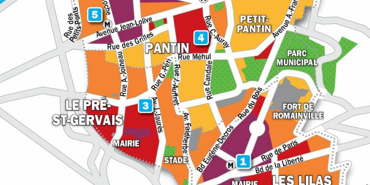 Immobilier au Pré-Saint-Gervais, aux Lilas et à Pantin : la carte des prix 2019