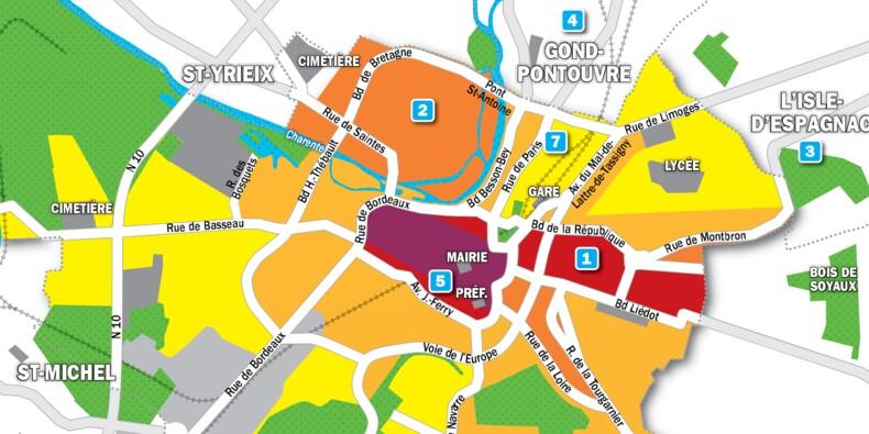 Immobilier à Angoulême : la carte des prix 2019
