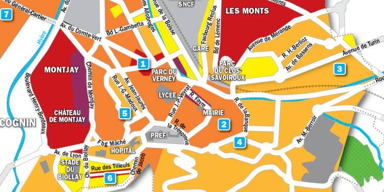 Immobilier à Chambéry : la carte des prix 2019