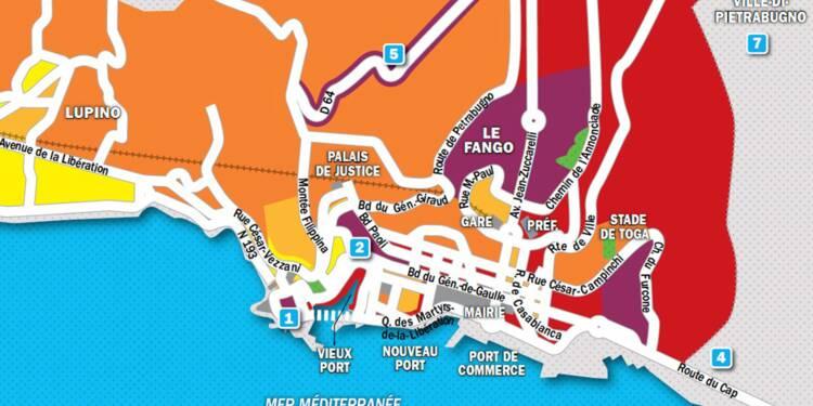 Immobilier à Bastia : la carte des prix 2019
