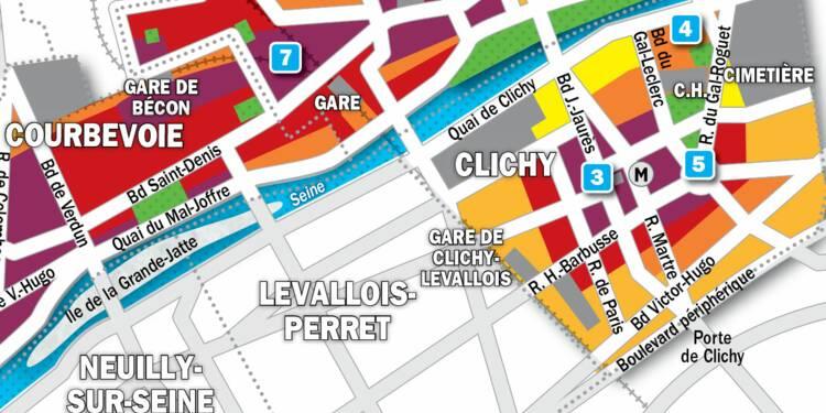 Immobilier à Clichy, Asnières, Courbevoie : la carte des prix 2019