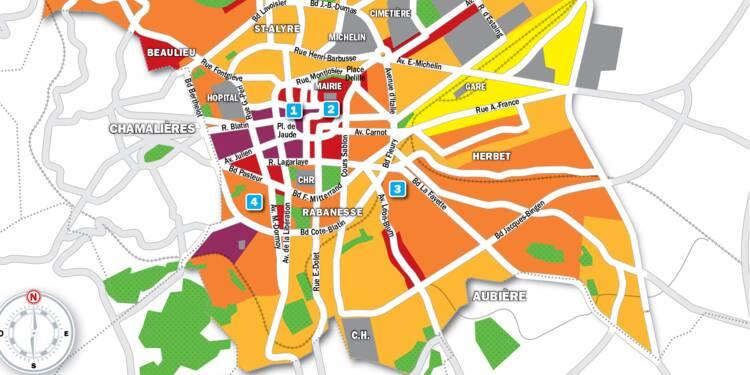 carte de clermont ferrand Immobilier à Clermont Ferrand : la carte des prix 2019   Capital.fr