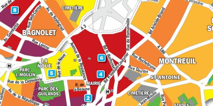 Immobilier à Montreuil et Bagnolet : la carte des prix 2019