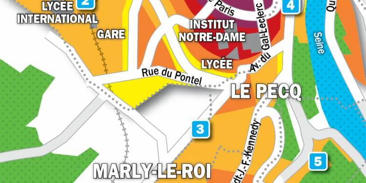 Immobilier à Marly-le-Roi, Le Pecq et Saint-Germain-en-Laye : la carte des prix 2019