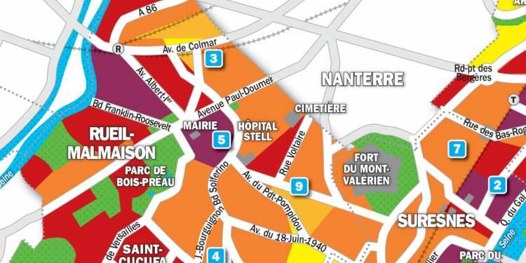 Immobilier à Rueil-Malmaison, Suresnes et Puteaux : la carte des prix 2019