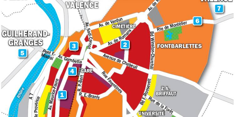 Immobilier à Valence : la carte des prix 2019