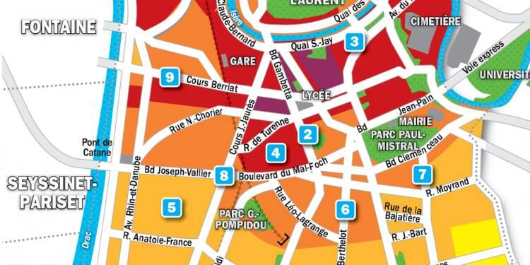 Immobilier à Grenoble : la carte des prix 2019