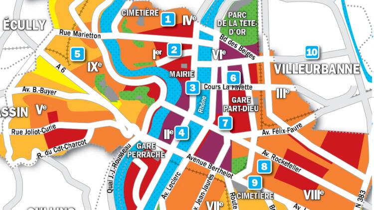 Immobilier à Lyon : la carte des prix 2019