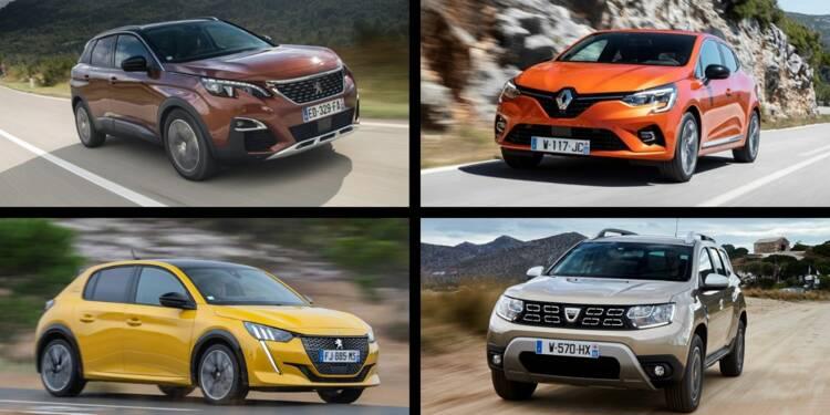 Les 10 voitures les plus vendues en France en octobre