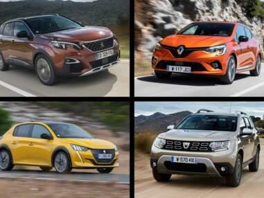 Les 10 voitures les plus vendues en France en octobre 2019