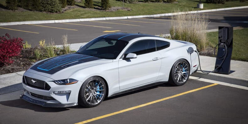 Ford transforme la Mustang en voiture électrique de… 900 ch !