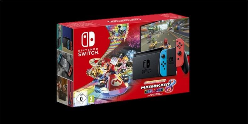 Nintendo Switch : profitez de la console avec Mario Kart et 4 volants en promotion