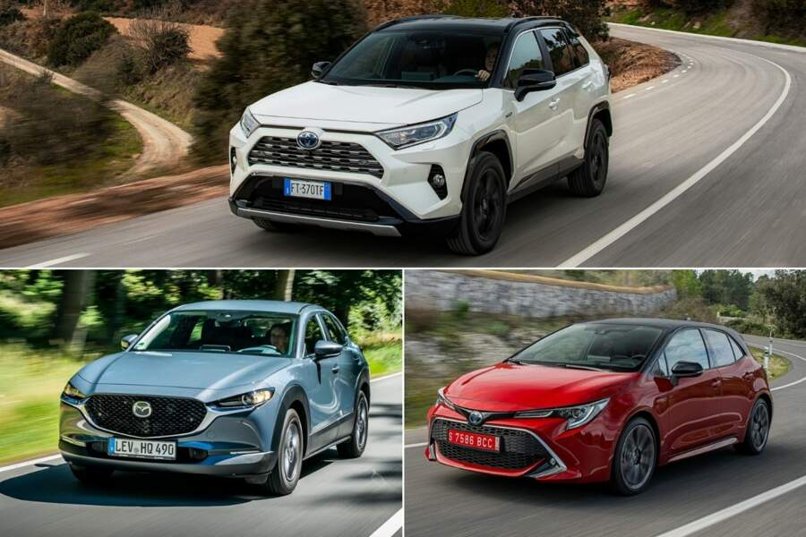 8 ex aequo - Mazda CX-30, Toyota Corolla et RAV4