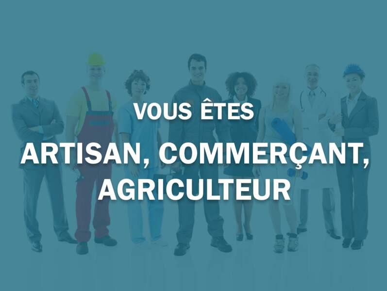 Vous êtes artisan, commerçant, agriculteur