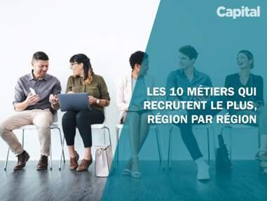 Les 10 métiers qui recrutent le plus, région par région