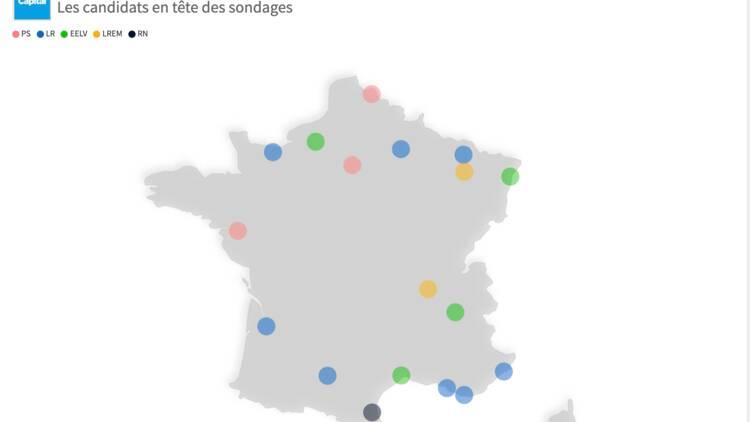 Municipales : la percée inattendue de Philippe Poutou à Bordeaux —  l'évolution des sondages dans les grandes villes