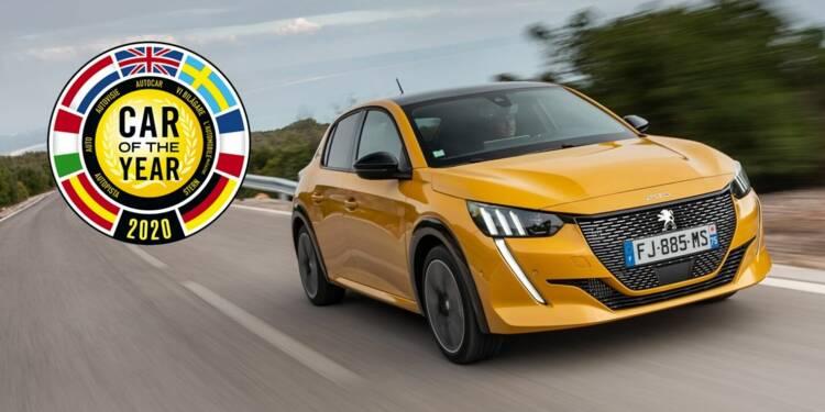 Voiture de l'année 2020 : la Peugeot 208 remporte le titre, devant la Tesla Model 3