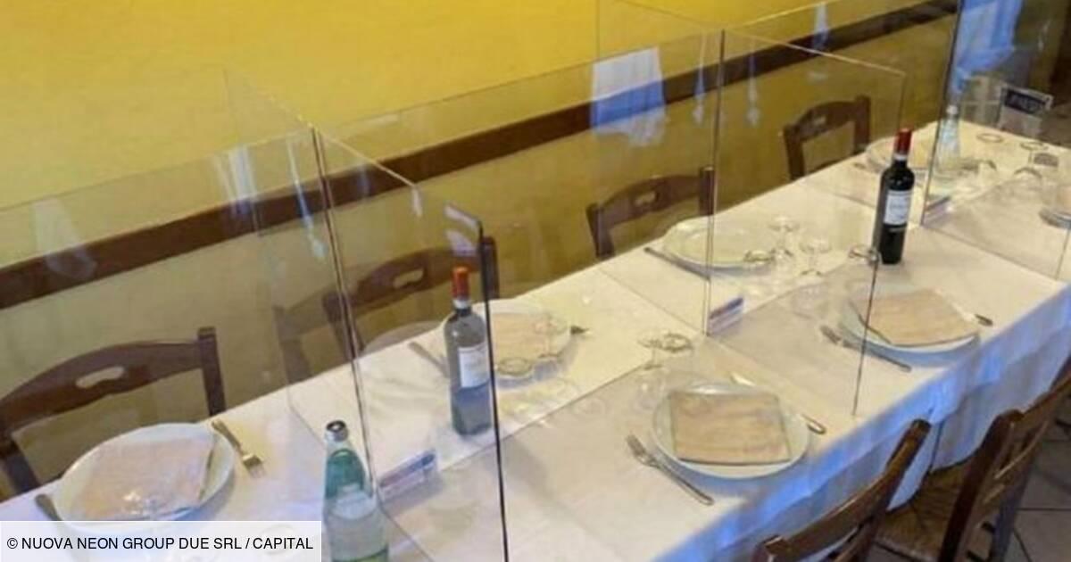 Des Plaques De Plexiglas Entre Les Tables Au Restaurant Capital Fr