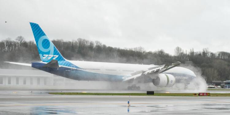 Boeing : le second 777X a réussi son vol inaugural
