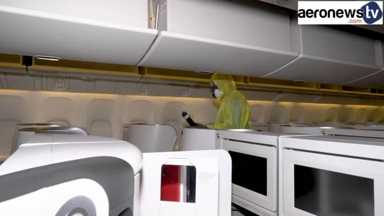 Voici comment Air France désinfecte ses cabines d'avion