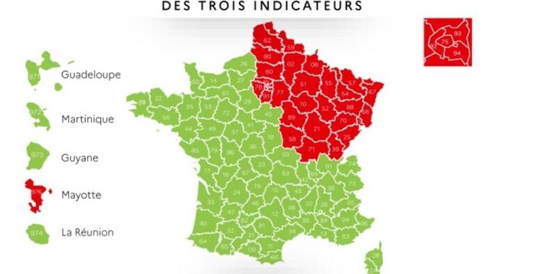 De nouveaux critères pris en compte pour classer les régions en rouge ou en vert ?