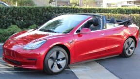 Un atelier californien transforme la Tesla Model 3 en cabriolet