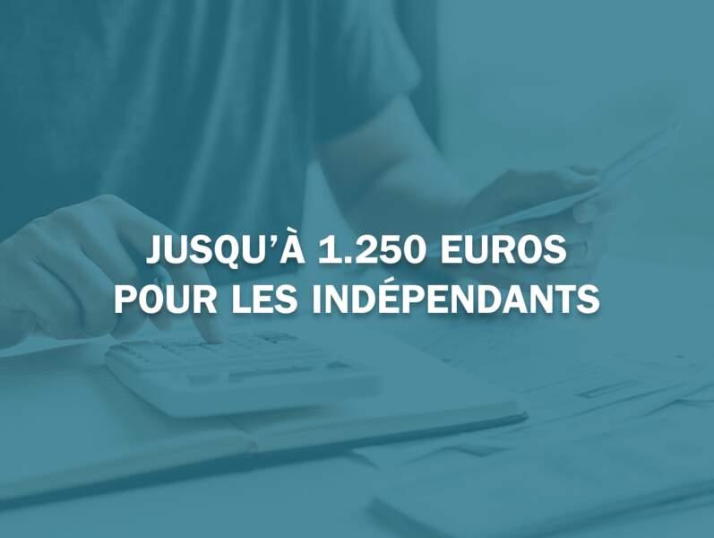 Jusqu'à 1.250 euros pour les indépendants