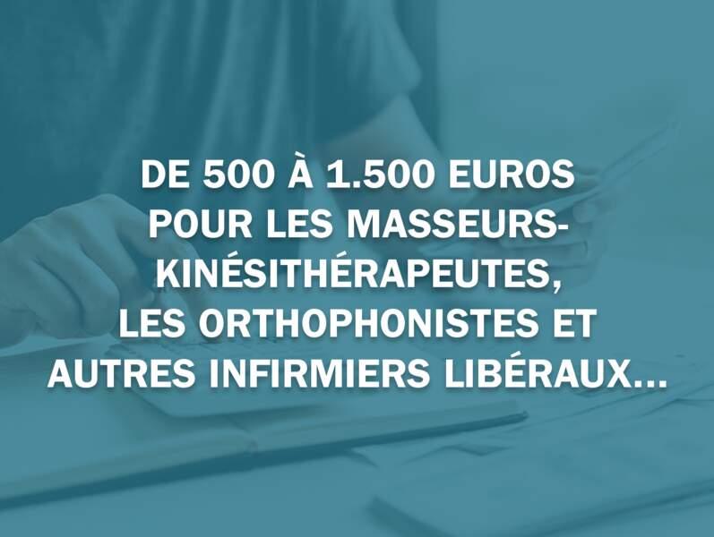 De 500 à 1.500 euros pour les masseurs-kinésithérapeutes, les orthophonistes et autres infirmiers libéraux...