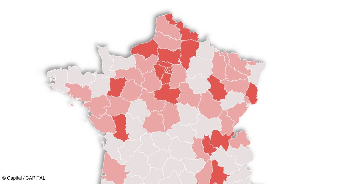Taux De Positivite Au Covid 19 Departement Par Departement Notre Nouvelle Carte De France Capital Fr