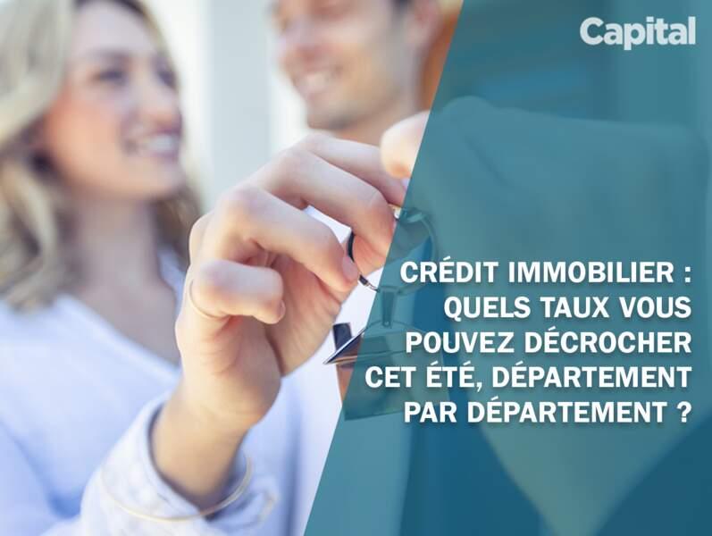 Les taux de crédit immo près de chez vous