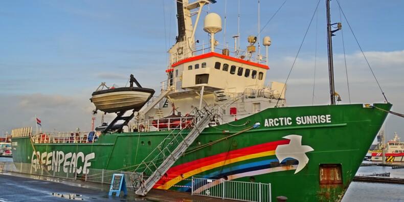 Greenpeace écope d'une amende salée pour le blocage d'une plateforme pétrolière BP