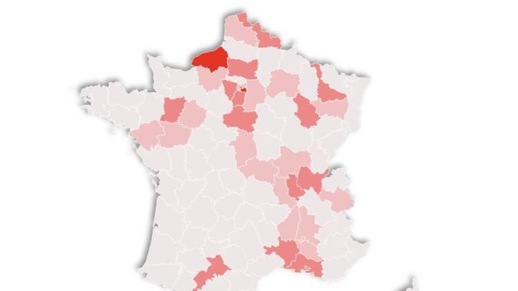 La carte de France des 91 clusters du Covid-19