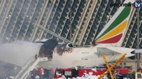 En vidéo : un avion cargo d'Ethiopian Airlines prend feu à Shanghai