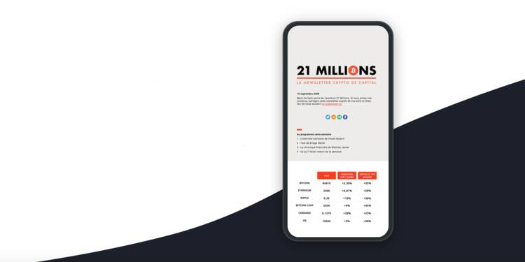 Capital lance 21 Millions, sa newsletter spécialisée dans les cryptomonnaies