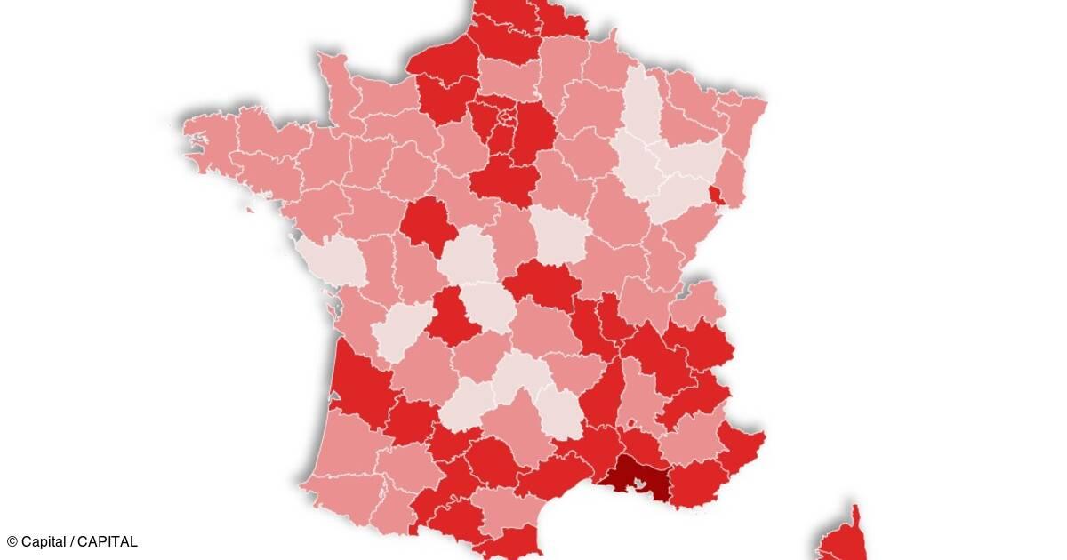 Covid-19 : la carte de France du taux de réanimation, département par département - Capital.fr