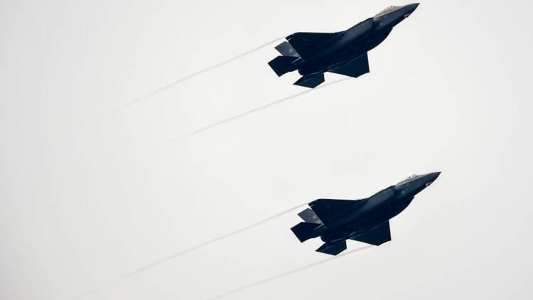 Le F-35 Lightning n'a pas pu effectuer sa mission à cause d'un orage