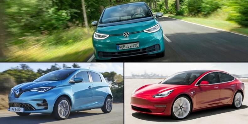 Les 10 voitures électriques les plus vendues en septembre