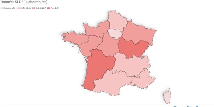Taux de reproduction : les régions où l'épidémie recule le plus, notre carte de France