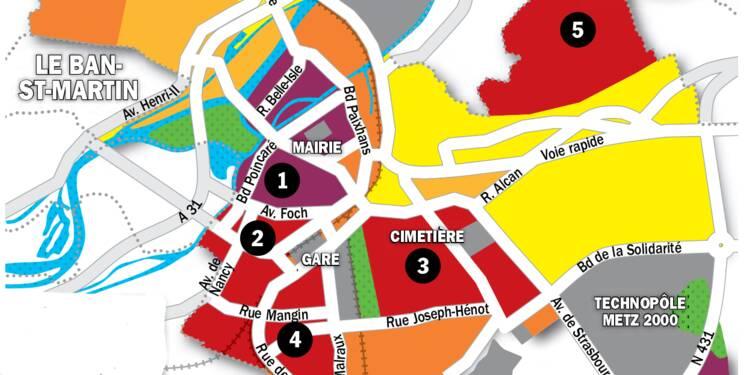 Immobilier à Metz : la carte des prix 2020