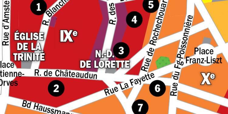 Immobilier à Paris : la carte des prix 2020 dans le 9e arrondissement