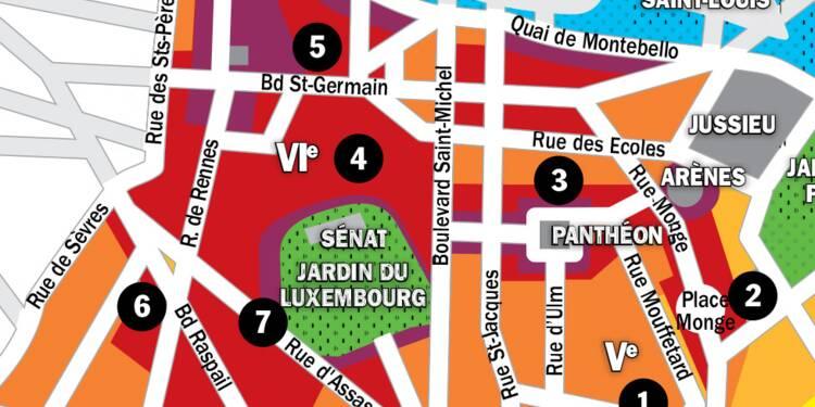 Immobilier à Paris : la carte des prix 2020 dans les 5e et 6e arrondissements