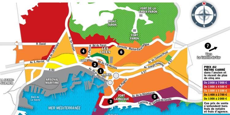 Immobilier à Toulon : la carte des prix 2020