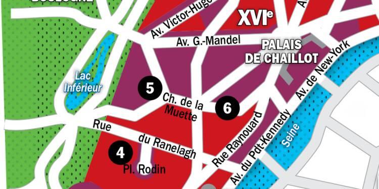 Immobilier à Paris : la carte des prix 2020 dans le 16e arrondissement