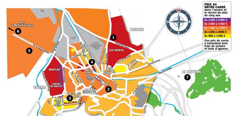 Immobilier à Chambéry : la carte des prix 2020