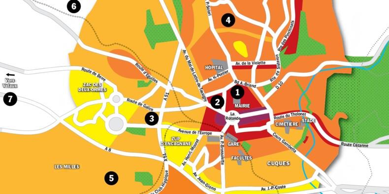 Immobilier à Aix-en-Provence : la carte des prix 2020