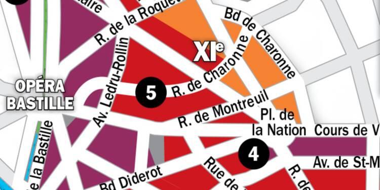 Immobilier à Paris : la carte des prix 2020 dans les 11e et 12e arrondissements