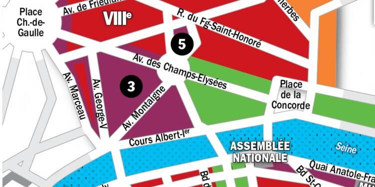 Immobilier à Paris : la carte des prix 2020 dans les 7e et 8e arrondissements