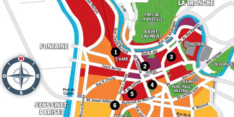 Immobilier à Grenoble : la carte des prix 2020