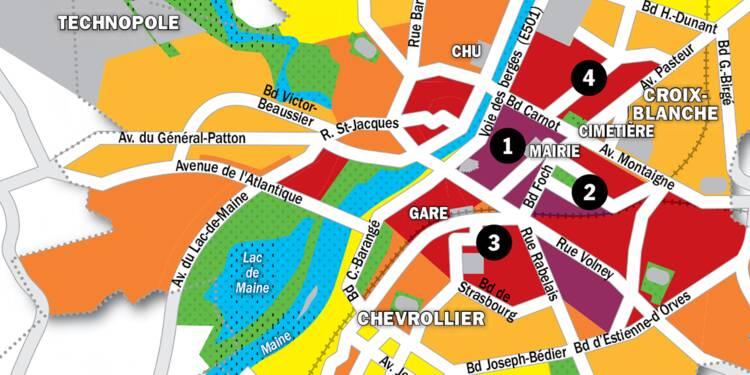 Immobilier à Angers : la carte des prix 2020